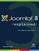 Joomla! 3 Explained