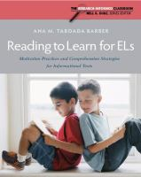 Reading to Learn for ELs