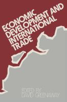 Economic Development and International Trade