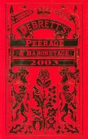Debrett's Peerage and Baronetage