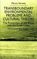 Transboundary Environmental Problems and Cultural Theory: The Protection of the Rhine and the Great Lakes