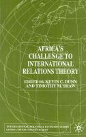 Africa's Challenge To International Relations Theory