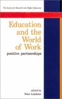 Education and the World of Work
