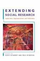 Extending Social Research