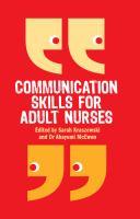 Communication Skills for Adult Nurses