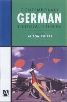 Contemporary German Cultural Studies