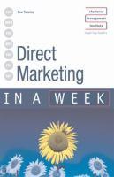 Direct Marketing in A Week