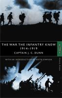 The War the Infantry Knew, 1914-1919