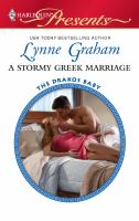 A Stormy Greek Marriage