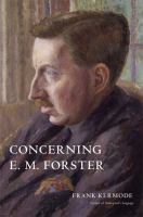Concerning E.M. Forster