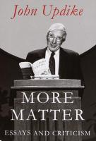 More Matter