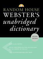 Random House Webster's Unabridged Dictionary