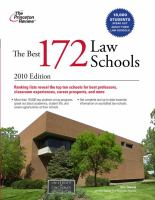 The Best 172 Law Schools