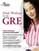 Math Workout for the GRE