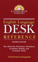 Random House Webster's English Language Desk Reference