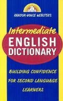Random House Webster's Intermediate English Dictionary
