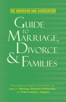 The American Bar Association Guide to Marriage, Divorce & Families