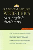 Random House Webster's Easy English Dictionary