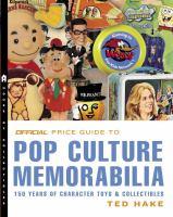 Official Price Guide to Pop Culture Memorabilia