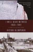 I Will Bear Witness
