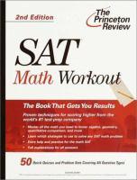 The Princeton Review SAT Math Workout