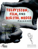 Television, Film, and Digital Media Programs