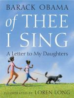 Cover of Of Thee I Sing: A Letter t