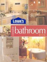 Lowe's Home Improvement Warehouse Complete Bathroom Book