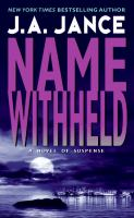 Name Withheld : A J. P. Beaumont Mystery