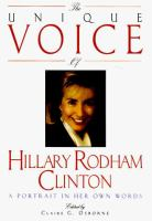 The Unique Voice of Hillary Rodham Clinton