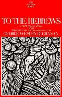 To the Hebrews