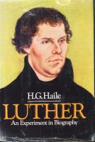 Luther, An Experiment in Biography
