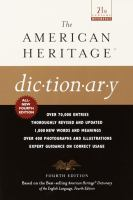 The American Heritage Dic-tion-ar-y