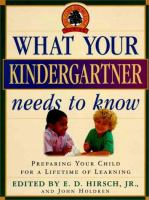 What your Kindergartener Needs to Know