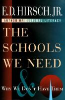 The Schools We Need and Why We Don't Have Them