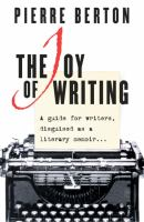 The Joy of Writing