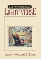 The Norton Book of Light Verse