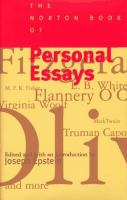 The Norton Book of Personal Essays