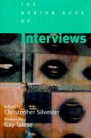 The Norton Book of Interviews