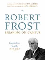 Robert Frost Speaking on Campus