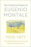 The Collected Poems of Eugenio Montale, 1925-1977
