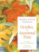 October, Or, Autumnal Tints
