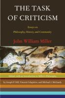 The Task of Criticism
