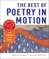 The Best of Poetry in Motion