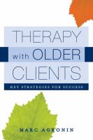 Therapy With Older Clients