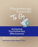 Achieving Psychotherapy Effectiveness