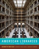 American Libraries, 1730-1950
