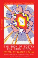 The Book of Poetry for Hard Times