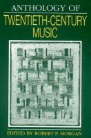 Anthology of Twentieth-century Music