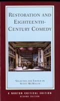 Restoration and Eighteenth-century Comedy